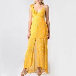 Valeria Print Maxi Dress in Yellow